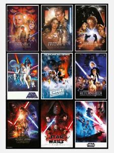 "Star Wars - Skywalker Saga - Collage of 9 Movie Posters - 91 x 61 cm 36"" x 24"""