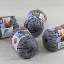 Sale 4BallsX50g Thick Worsted 100% Cotton Hand Knitting Yarn Mom Gray 422-33