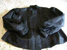 Antique Authentic Ladies Black Taffeta Victorian Top/ Blouse