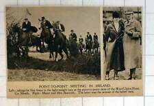 1920 Point-to-point Race Ward Union Hunt County Meath Major Mrs Beamish