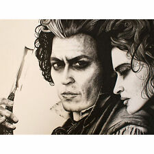 Sweeny Todd Johnny Depp Wayne Maguire Large Wall Art Print 18X24 In
