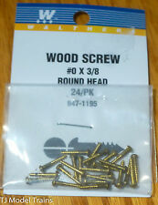 Walthers #947-1195 (24 in pkg) Brass or Brass-Plated Wood Screws -- #0; 3/8 x .0