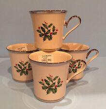 Lenox HOLIDAY PLATINUM Cup/Mug Lot Of 4 ~ NWT