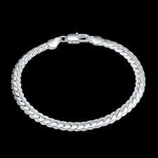 Genuine Unisex 5 MM Bracelet S/F Hallmarked 925 Sterling Silver Ladies & Men