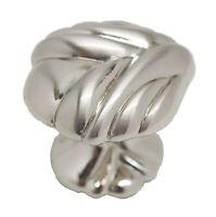 LOT 25 AMEROCK Guardian Solid Brass 1-3/8 Cabinet Knob Sterling Nickel BP1475-G9