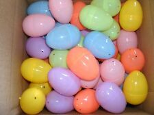 """12 Dozen 144 Pieces Plastic Hinged Easter Eggs Assorted Colors 2 1/4"""" BRAND NEW"""