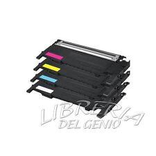 4 TONER PER STAMPANTE LASER COLORI SAMSUNG CLP320 N 325 NW CLX3180 3185 NW 4072