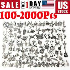 Wholesale 100-2000pcs Bulk Lots Tibetan Silver Mixed Charm Pendants Jewelry Diy