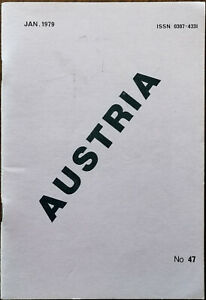 Austria Stamp Club of Great Britain Vintage Philately Booklet No.47 January 1979