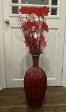 Red large vase Any Room in excellent condition