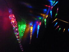 5.9M 50 LED MULTI COLOUR SOLAR ICICLE CHRISTMAS WEDDING PARTY STRING LIGHTS