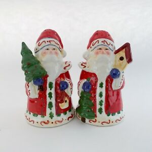 "Christmas Santa Claus with Tree Salt & Pepper Shakers (4"" tall)(China)"