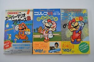 Original Japanese Super Mario Bros 2 Golf Japan US Course Guide Book Manual
