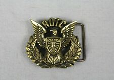 Vintage 70's 1979 ROTC Cut-Out Solid Brass Baron Belt Buckle
