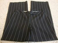 Womens BEBE black pinstripe pants, 6