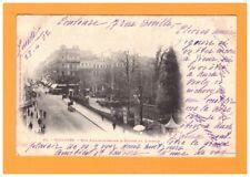 TOULOUSE (31) TRAMWAY aux COMMERCES & SQUARE du CAPITOLE animé en 1902