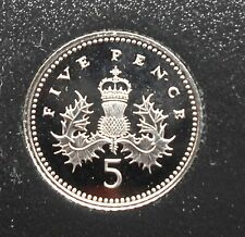 1999 PROOF 5p FIVE PENCE COIN FROM SET. - SUPERB BU CONDITION