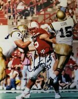 NEBRASKA FOOTBALL HUSKER CHRISTIAN PETER #55 SIGNED PHOTO - UCLA JONATHAN OGDEN