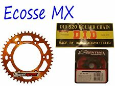 KTM SXF450 EXCF450 EXC400 DID Gold G/B Chain Orange Supersprox Sprocket Kit
