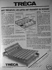 PUBLICITÉ 1985 MATELAS TRÉCA AVEC TRÉCAFLEX - ADVERTISING
