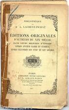Editions originales d'auteurs du XIXè siècle Laurent Pichat chez Leclerc 1927