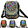 Ethnic Lady Cell Phone Bag Retro Embroider Purse Messenger Crossbody Bag Wallet^