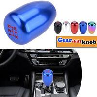 BLUE 5 Speed Car Aluminum Manual Gear Stick Shift Knob Shifter Lever Cover New