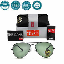 Ray Ban Authentic Aviator RB 3025 L2823 58mm Black/Green Sunglasses G-15