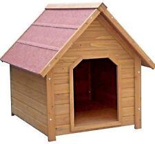 KENNEL - Dog Wooden Apex House Pet Bed Garden Home Wood Den Felt Roof dm PawMits