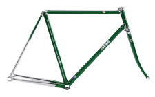 CINELLI SUPERCORSA PISTA LUGGED COLUMBUS STEEL TRACK FRAME SET : GREEN 60 CM