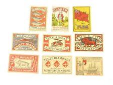 More details for 33 various vintage matchbox labels quaker three globes vulcan pioneer etc.