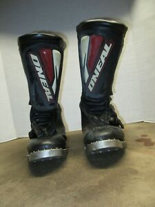 O'Neal Elements Mens Size 13 Motocross Dirt Bike Motorcycle Boots Black/Red