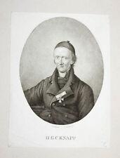 c1820 Knapp Georg Christian Kupferstich-Porträt Fleischmann Kümmel