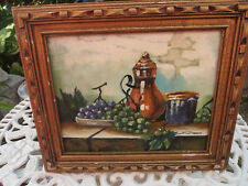 Antique old world  Oil Still-Life Painting of Fruit