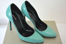 GIORGIO ARMANI Turquoise color Genuine Python Leather Pump/Shoes Size 8B sy