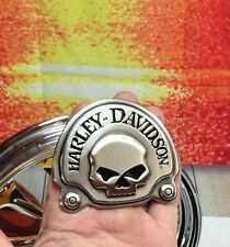 OEM Harley Willie G Skull Medallion Backrest Heavy Metal Emblem For Sissy Bar