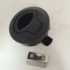 Great Fit For Boat Deck Hatch 1/2'' Door 2'' Black Plastic Flush Pull Slam Latch