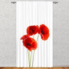 Fotogardinen Wilde Mohnblumen Fotovorhang Vorhang Gardinen 3d Qualität Fotodruck Window Treatments & Hardware