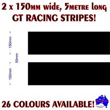 2x150mm(50mm gap) GT racing stripes performance car quality vinyl decal stickers