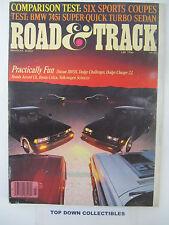 Road and Track Magazine  March 1982  Caballo de Hierro--Carrera Panamericana