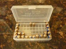 AAA Battery Plastic Storage Box Bin Container HOLDS 50 BATTERIES !  (1) CLEAR