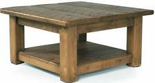 Pine Square Coffee Tables with Shelves