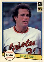 1982 Donruss Baseball Base Singles #357-660 (Pick Your Cards)
