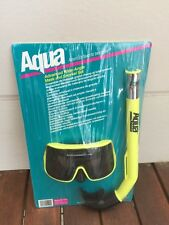 AQUA Wide Angle Mask & Snorkel Set for Kids w Polycarbonate Lens & Silicone Seal