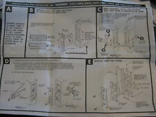 New old stock SARGENT 4877 ASSA ABLOY DEAD LOCK SET 351223,P034711-AS 630