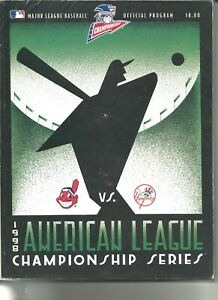 1998 American League Championship Series Program NY Yankees Clev. Indians Jeter