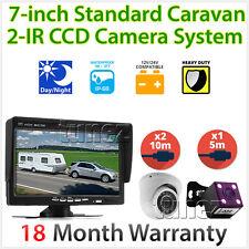 "Caravan Two Infrared IR Dome Camera 4PIN System 7"" Monitor 12V/24V Reversing CCD"