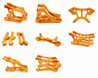 Aluminum metal CNC DIY Upgrade Parts Fit for 1/5 HPI Baja KM ROVAN Rc Car Orange
