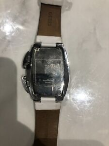 Guess White Double Watch
