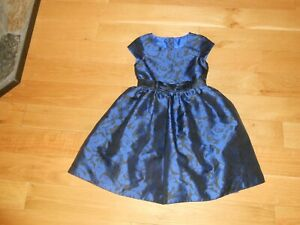 NWOT GYMBOREE BLUE & BLACK CAP SLEEVE DRESS SIZE 6